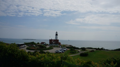 We arrived early, so the lighthouse wasn't crowded yet.